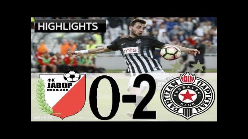 FULL HIGHLIGHTS   Javor - Partizan 02   Super Liga Srbije 17 kolo   19.11.2017.