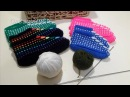 Тапочки следочки Ракушки, Веера. Вяжем спицами. Knitted slippers Shells.