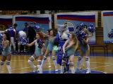 Талисман БК Алтай-Баскет (Барнаул) Волк танцует в перерыве ч.2