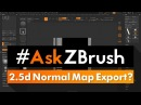 """AskZBrush: """"How can I export out a Normal Map from the 2.5d Canvas?"""""""