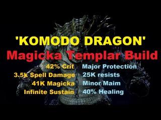 'Komodo Dragon' Magicka Templar Build (RIDICULOUS STATS!)