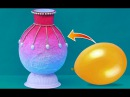 Easy Best Out of Waste Idea | DIY Flower Vase | Paper Pot Making Balloon Crafts