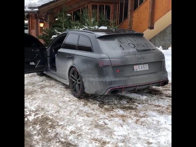 Drift en Audi RS6 à Courchevel