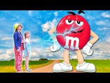 Bad Baby Magic wand transform into a GIANT M&ampM's ! w Changing Wheel &amp Johny Johny Yes Papa Song