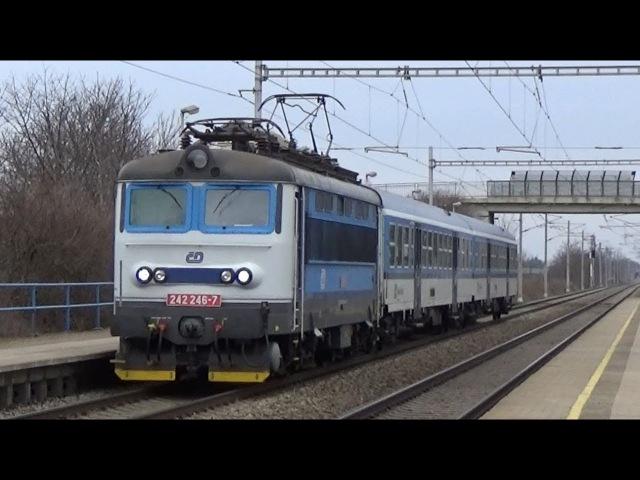 Vlaky Popovice u Rajhradu 9.3.2018