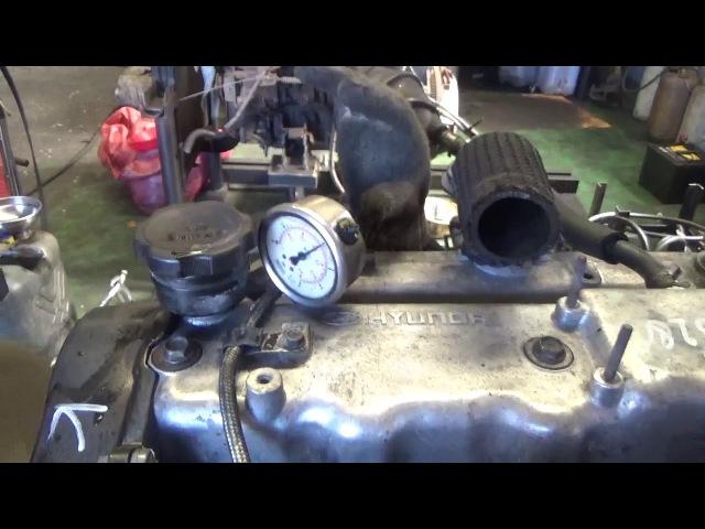 Проверка давления масла в двигателе D4BH 3818280 Starex мех-кое ТНВД