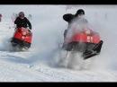 Экстрим шоу на снегоходе Буран Show extreme snowmobile Buran