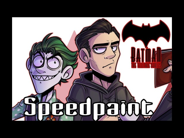 Bruce and John - Telltale Batman speedpaint