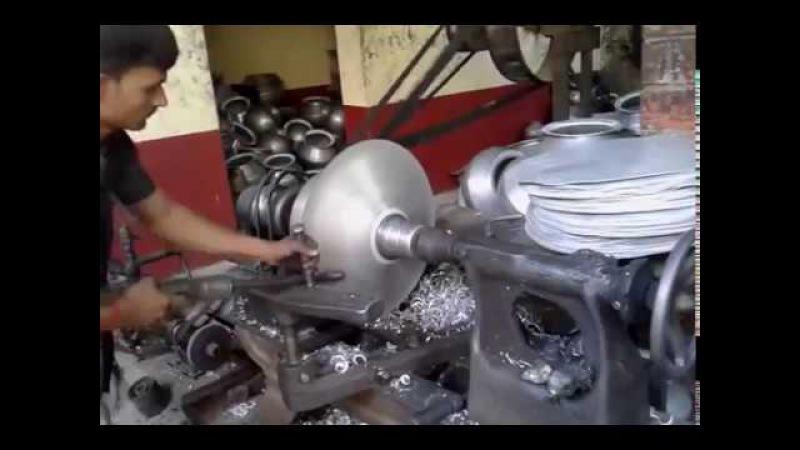 Aluminum utensil spinning workshop in Muslimabad Daudnagar