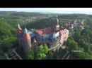 Prawdziwy skarb Wałbrzycha Zamek Książ w 4K UHD z lotu ptaka