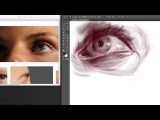ADVANCED ARTIST DEMO TEST Drawing the eye, structure. (No Sound, no Editing)