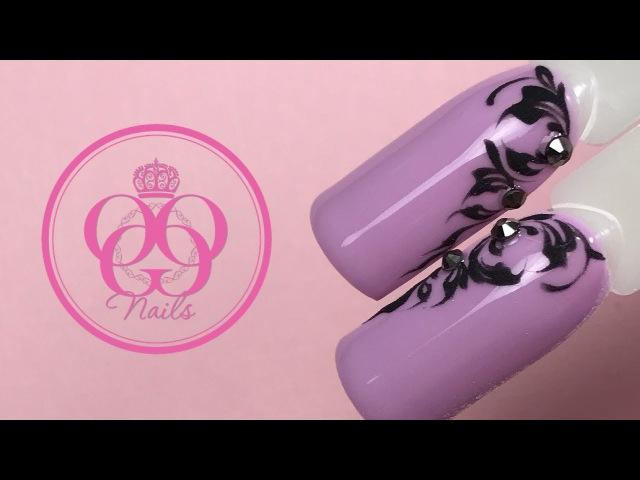 Вензеля и акриловая пудра в летнем дизайне ногтей♥Стразы♥Patrisa Nail