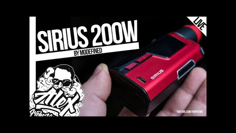 Sirius 200W | by Modefined l Alex VapersMD review 🚭🔞