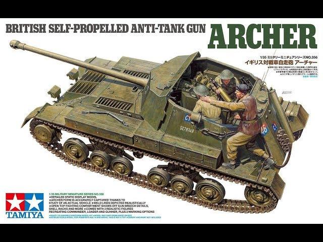 Building the NEW Tamiya 1/35 British Archer self propelled anti tank gun