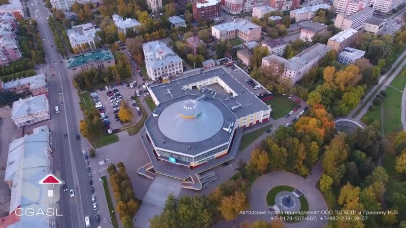 Аэросъемка города Иваново (панорама, сумерки)