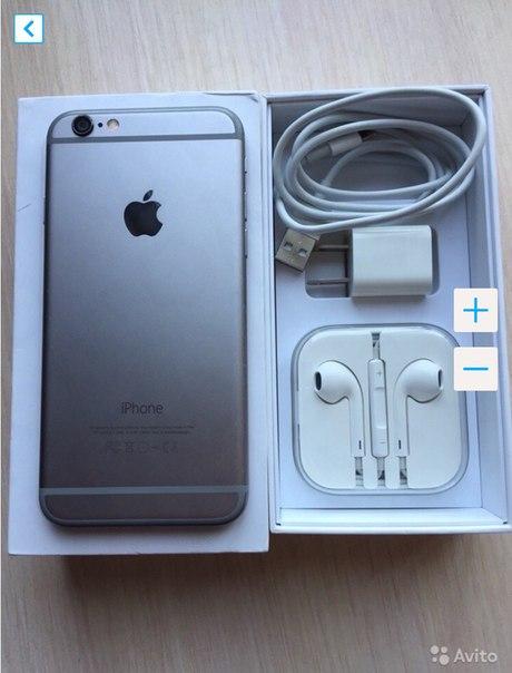iPhone 6 64gb space grey. Продажа and обмен. Телефону ещё где то тольк