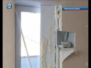 В Омской области дом рушится буквально на глазах