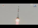 Старт ракеты «Союз» с кораблем «Прогресс МС-08»