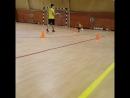 Глеб на тренировке