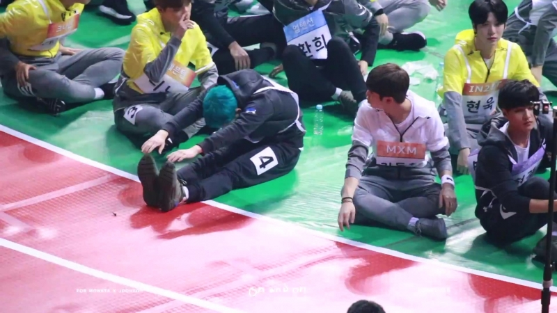 [VK][180115] MONSTA X fancam (Jooheon Focus) @ Idol Star Athletics Championships 2018