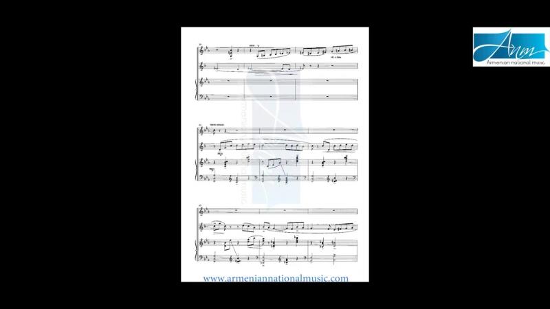 Alexander Harutyunyan-Suite for Trio-parts 3 and 4 (violin,clarinet,piano) (ANM)