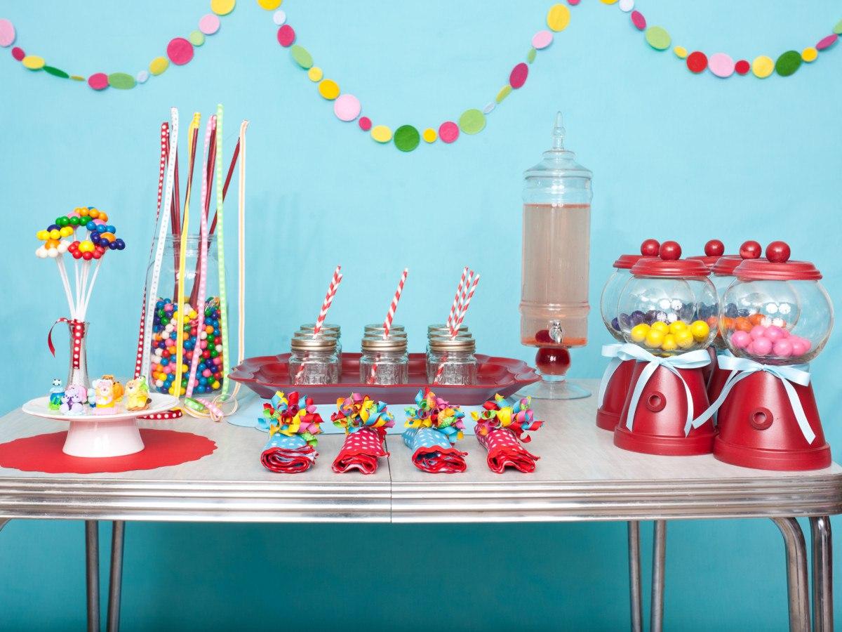 Украшения праздничного стола ребенку фото