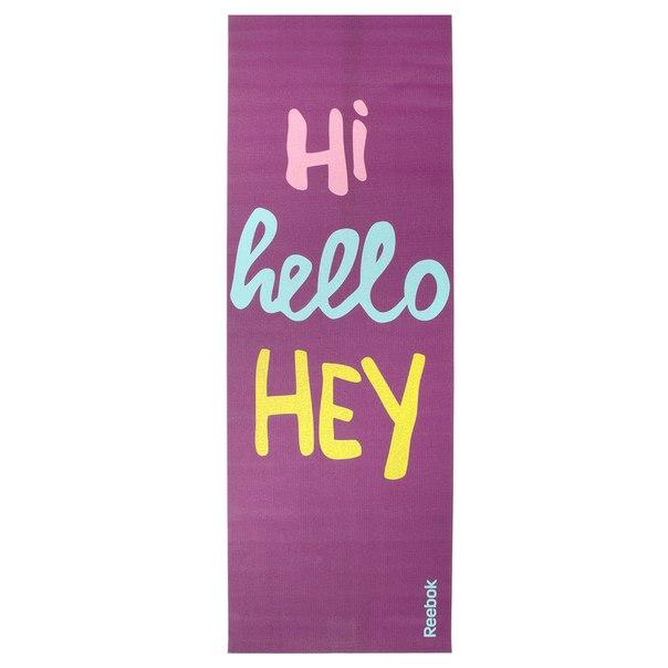 Двусторонний коврик для йоги Hello