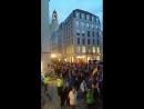 PEGIDA Dresden 18.09.2017 beim Spaziergang und die St.Petersburger Straßenmusikanten mit der Nationalhymne !