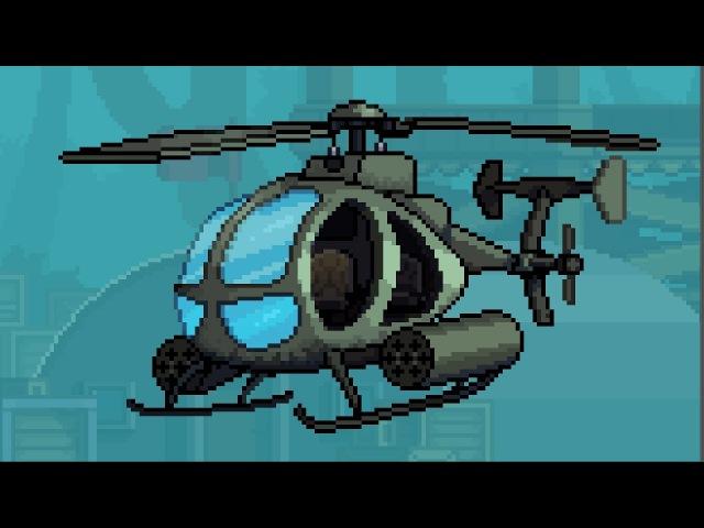 Рисование пиксельарт спрайта Вертолета (Закрытый урок) by Artalasky