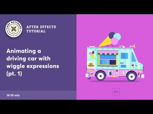 After Effects Tutorial Driving Vehicle with wiggle expressions смотреть онлайн без регистрации