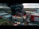 ВРостове на Дону несколько часов тушили сильный пожар настроительном рынке