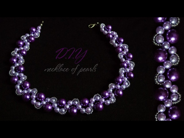 How To Make Designer Necklace Pearl At Home   DIY   Bridal Necklace   Necklace Pearl