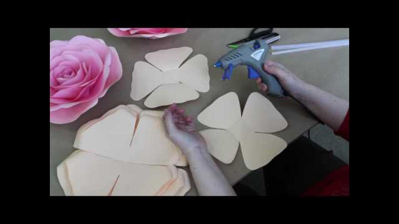 Мастер класс по созданию розы из бумаги от Алины Высторобской Студия Атрибуты Восторга