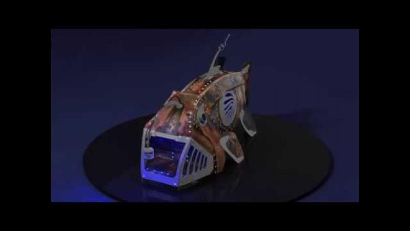 Анимация арт объекта Удильщик Blender Decorative angler fish Blender animation