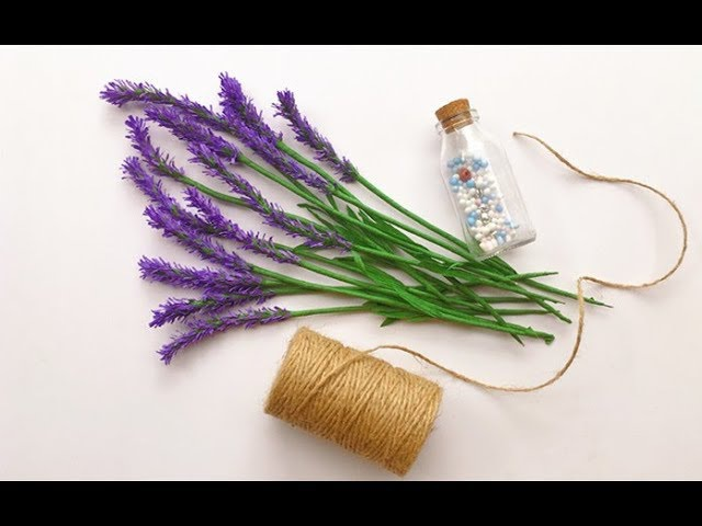ABC TV | How To Make Lavender Paper flower From Crepe Paper 2 - Craft Tutorial