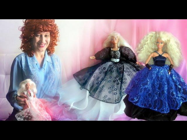 Куклы Барби принцессы в платьях из гипюра, шифона и с вышивкой
