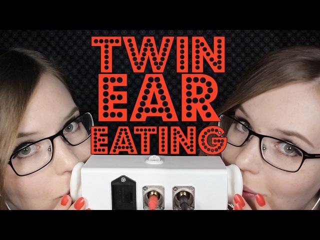 INTENSE ✨ Twin Ear Eating | Breathy, Mouth Sounds, No Talking | Binaural HD ASMR 💤