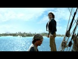 Black Sails S1E2 John Silver escapes and jumps from The Walrus...