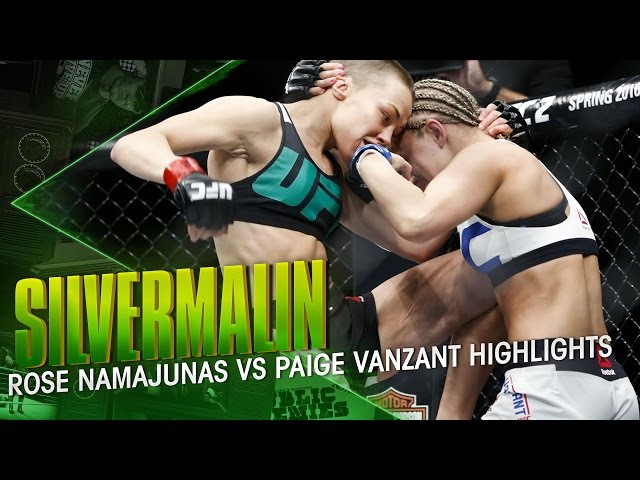 Silvermalin Main Event For The Ages Rose Namajunas vs Paige VanZant HIGHLIGHTS