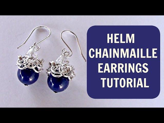 HELM CHAINMAILLE DANGLE EARRINGS TUTORIAL DIY
