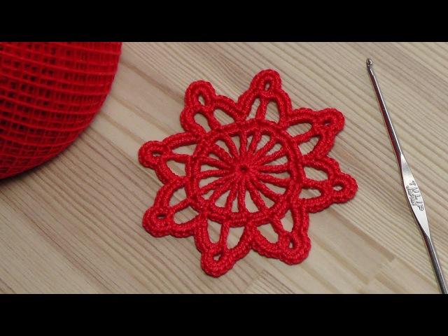 Урок вязания круглого мотива крючок для новичков crochet for beginners