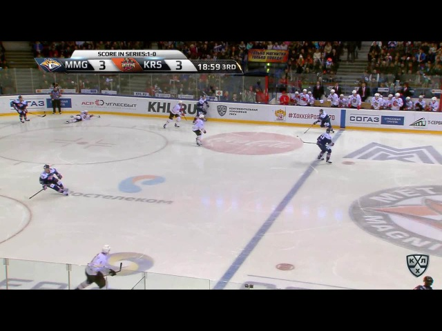 Моменты из матчей КХЛ сезона 16/17 • Удаление. Томми Сантала (Металлург) оштрафован на 2 минуты за задержку клюшкой 24.02