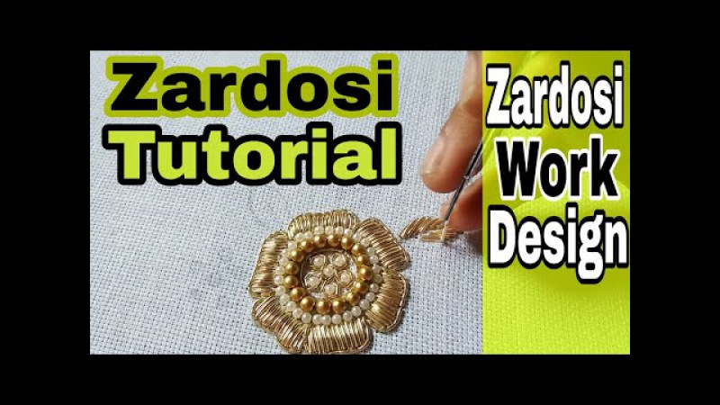 Zardosi Work for beginners | Hand Embroidery | zardozi | aari work