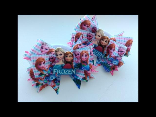 Батики Холодное сердце из репсовой ленты МК Канзаши / Batiks Cold heart of REP ribbons Kanzashi MK