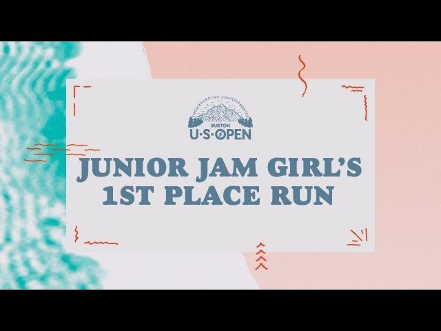 2018 Burton U·S·Open Junior Jam – Girl's 1st Place Run