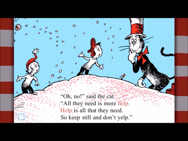 The CAT in the HAT COMES BACK by Dr Seuss iOS Kids Read Learn and Play Story Book App