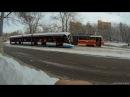 Трамвай Витязь М маршрут 35 Нагатино Новоконная площадь вид сзади 9 02 2018