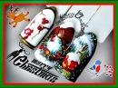Новогодние Дизайны гель лаком. Простой маникюр./Happy New Year/Merry Christmas