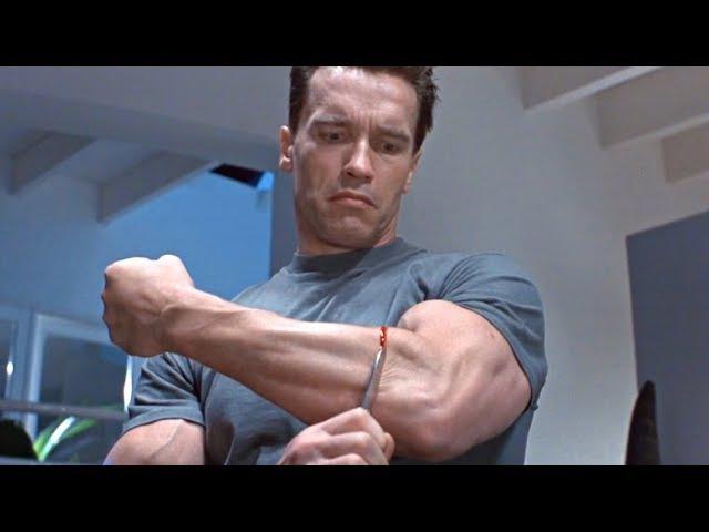 Смотри описание! Терминатор снимает кожу со своей руки. Фильм Терминатор 2 Судный день. 1991 год
