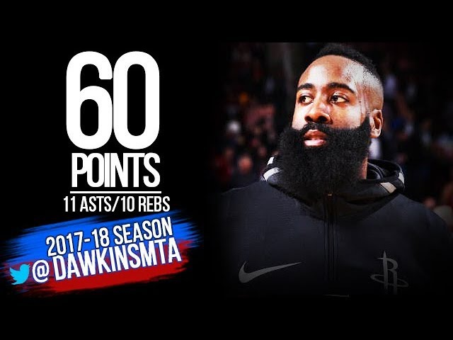 James Harden HiSTORIC 60 Pts, 11 Asts, 10 Reb TD 2018.01.30 vs Magic - Career-HIGH! | FreeDawkins